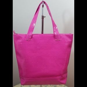 kate spade Bags - KATE SPADE NY Hot Pink Patent Leather Tote Purse